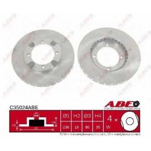 ABE C35024ABE Тормозной диск Митсубиси Кольт