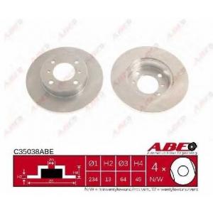 ABE C35038ABE Тормозной диск Митсубиси Кольт