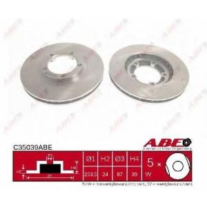 ABE C35039ABE Тормозной диск Митсубиси Л 400