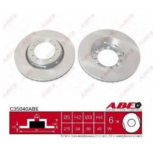 ABE C35040ABE Тормозной диск Митсубиси Л 300