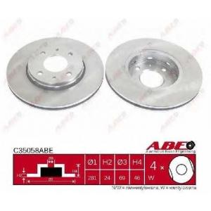 ABE C35058ABE Тормозной диск Митсубиси Карисма