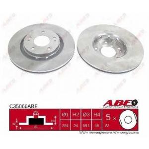 ABE C35066ABE Тормозной диск Митсубиси Оутландер