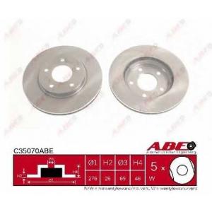 ABE C35070ABE Тормозной диск Додж Калибер