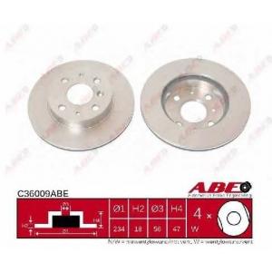 ABE C36009ABE Тормозной диск Дайхатсу