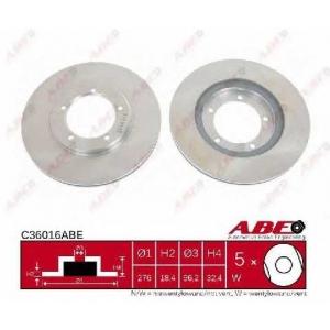 ABE C36016ABE Тормозной диск Дайхатсу