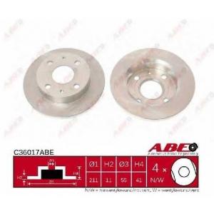 ABE C36017ABE Тормозной диск Дайхатсу