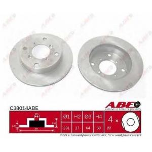 Тормозной диск c38014abe abe - SUZUKI SWIFT II Наклонная задняя часть (EA, MA) Наклонная задняя часть 1.0 (SF310, AA44)
