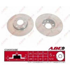 ABE C3A005ABE Тормозной диск Ауди А6