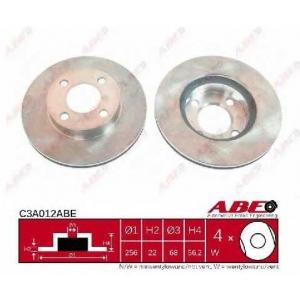ABE C3A012ABE Тормозной диск Ауди 80