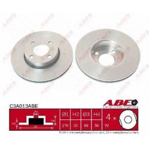 ABE C3A013ABE Тормозной диск Ауди Кабриолет