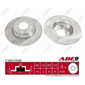 ABE C3A014ABE Тормозной диск Ауди 80