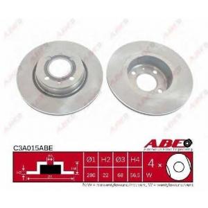 ABE C3A015ABE Тормозной диск Ауди 80
