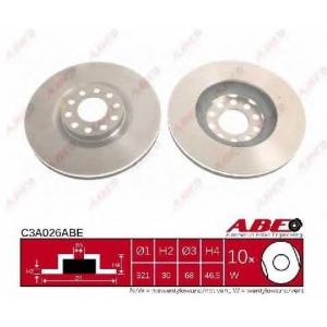 ABE C3A026ABE Тормозной диск Ауди Оллроад