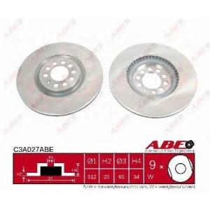 ABE C3A027ABE Тормозной диск Ауди Тт