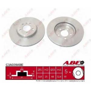 ABE C3A028ABE Тормозной диск Ауди А5 Спортбэк