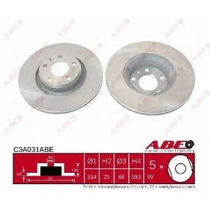 ABE C3A031ABE Тормозной диск Ауди А6 Олроад
