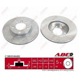 ABE C3B004ABE Тормозной диск Бмв З3