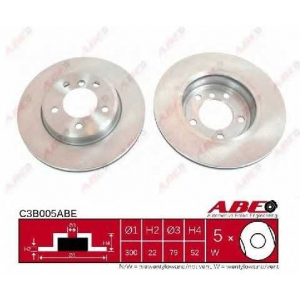 ABE C3B005ABE Тормозной диск Бмв З4