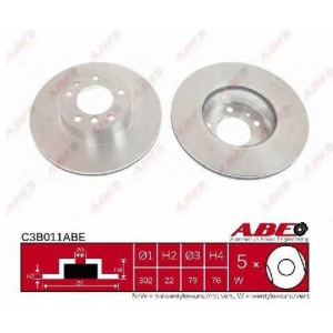 ABE C3B011ABE Тормозной диск Бмв 7
