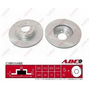 ABE C3B016ABE Тормозной диск Бмв 7