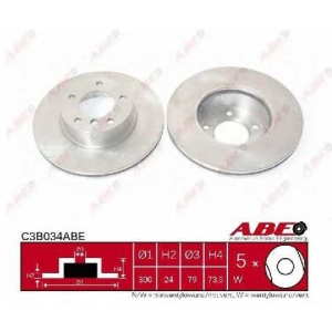 ABE C3B034ABE Тормозной диск Бмв 1