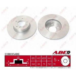 ABE C3B035ABE Тормозной диск Бмв Х1