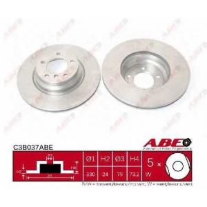 ABE C3B037ABE Тормозной диск Бмв 1