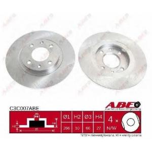 ABE C3C007ABE Тормозной диск Ситроен Бх Брейк