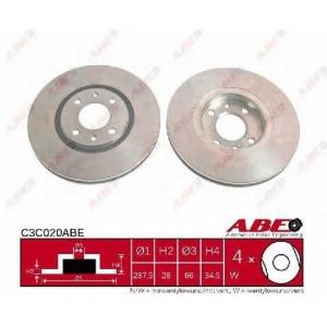 ABE C3C020ABE Тормозной диск Ситроен Ксантия Брейк