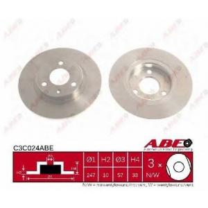 ABE C3C024ABE Тормозной диск Ситроен Ах