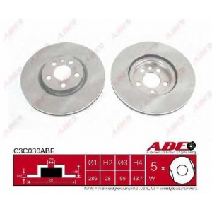 ABE C3C030ABE Тормозной диск Ситроен C8