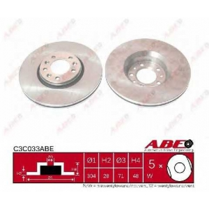ABE C3C033ABE Гальмівний диск