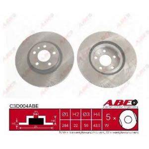 ABE C3D004ABE Тормозной диск Фиат