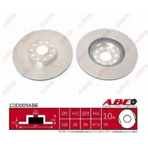 ABE C3D009ABE Тормозной диск Лансия