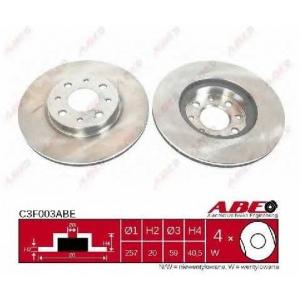 ABE C3F003ABE Тормозной диск Фиат Палио
