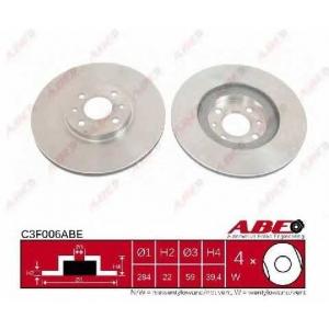 ABE C3F006ABE Тормозной диск Фиат Мултипла