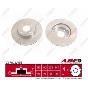 ABE C3F011ABE Тормозной диск Лансия