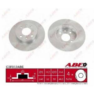 ABE C3F012ABE Тормозной диск Фиат Фиорино