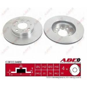 ABE C3F013ABE Тормозной диск Фиат Албеа