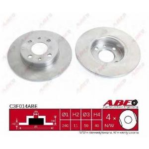 ABE C3F014ABE Тормозной диск Лансия