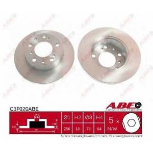 ABE C3F020ABE Тормозной диск Фиат Дукато