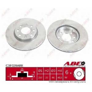 ABE C3F028ABE Тормозной диск Фиат Гранд Пунто