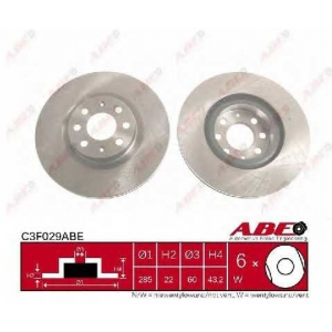 ABE C3F029ABE Тормозной диск Фиат 500