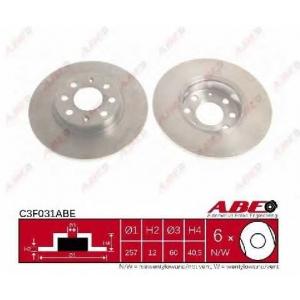 ABE C3F031ABE Тормозной диск Фиат Гранд Пунто