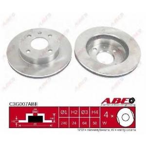 ABE C3G007ABE Тормозной диск Форд Сиерра