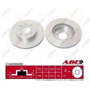 ABE C3G008ABE Тормозной диск Форд Сиерра