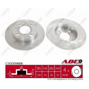 ABE C3G009ABE Тормозной диск Форд Фиеста