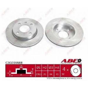 ABE C3G010ABE Тормозной диск Мазда 121