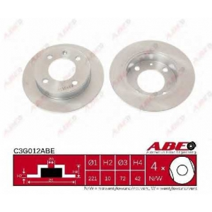 ABE C3G012ABE Тормозной диск Форд Фиеста