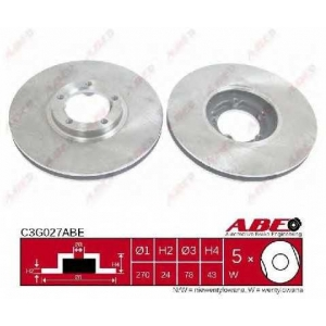 Тормозной диск c3g027abe abe - FORD TRANSIT автобус (E_ _) автобус 2.0 i (EBL, EDL, EGL, ESS, EUS)